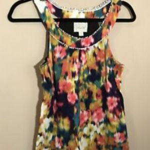 Anthropologie Deletta Sz XS Bright Color Slvless S
